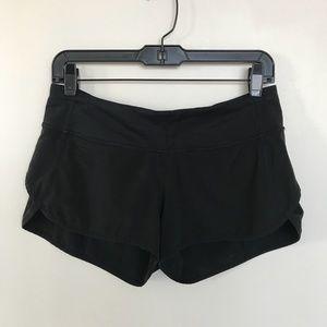 Lululemon athletic Speed Shorts Black 6